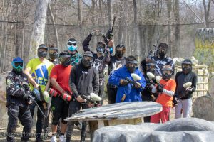 Outdoor paintball event
